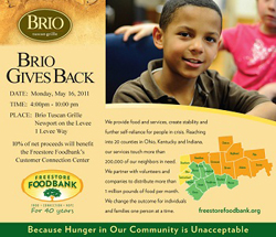 """Brio Gives Back To The Freestore Foodbank"""