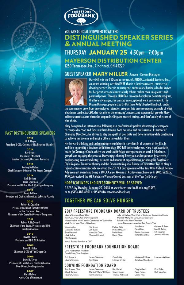 Distinguished Speaker Series & Annual Meeting
