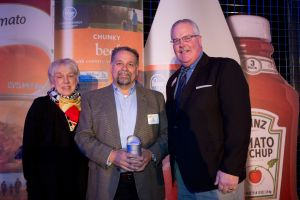 Bill Dankworth wins Bob Edwards Volunteer of the Year Away with Sylvia Edwards and Kurt Reiber