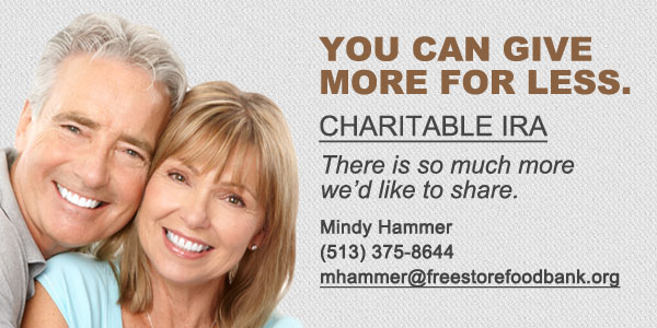 Tax law extension. Annually, retirement assets may become a preferred charitable gift for seniors. IRA distributions to charity can now again receive special tax advantages. Americans age 70½ and up can make tax-free IRA contributions to public charities such as The Freestore Foodbank.