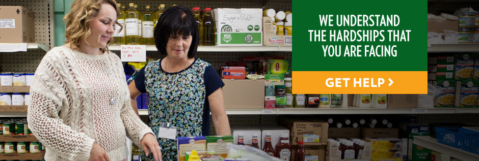 When you come to our Customer Connection Center, a Freestore Foodbank employee will meet with you one-on-one. We want to understand what is happening in your life so we can determine the best ways to help.