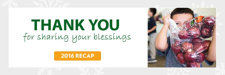 Thank you for sharing your blessings 2016 Recap