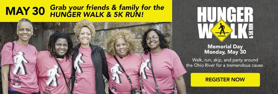 Cincinnati Hunger Walk & 5K Run - Monday, May 30th