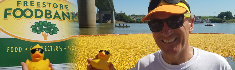 The Freestore Foodbank announces the winners of the 22nd Annual Rubber Duck Regatta, which sent more than 165,000 ducks into the Ohio River.