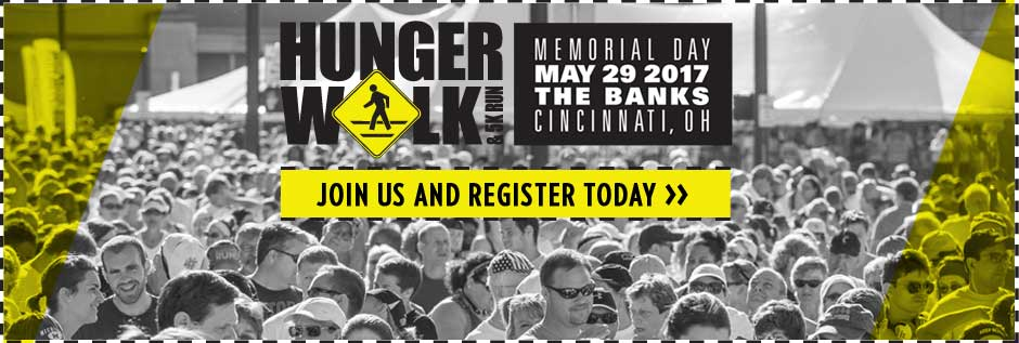 Cincinnati Hunger Walk & 5K Run - Memorial Day May 29 2017 The Banks Cincinnati, OH