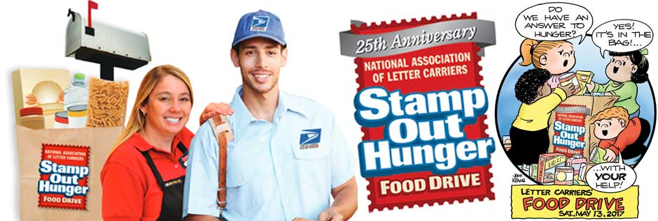 Help us Stamp Out Hunger on Saturday, May 13!