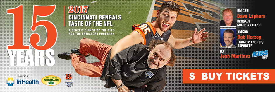 Join us for the Cincinnati Bengals' 15th Annual Taste of the NFL presented by TriHealth