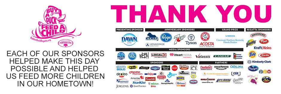 Each of our sponsors helped make this day possible and helped us feed more children in our hometown!