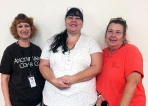 (L-R Receptionist Bette Rankin, Services Coordinator Jen McClure, and Board Member Tracy Abrams)