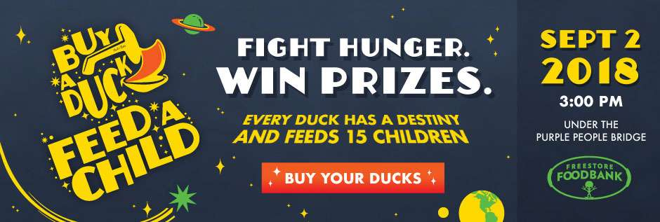 Buy a duck. Feed a child. Fight hunger. Win prizes. Every duck has a destiny and feeds 15 children. Buy your ducks.
