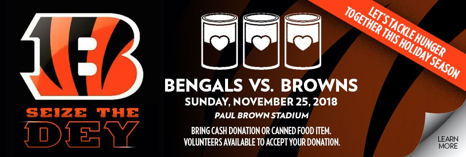 Bengals Canned Food Drive