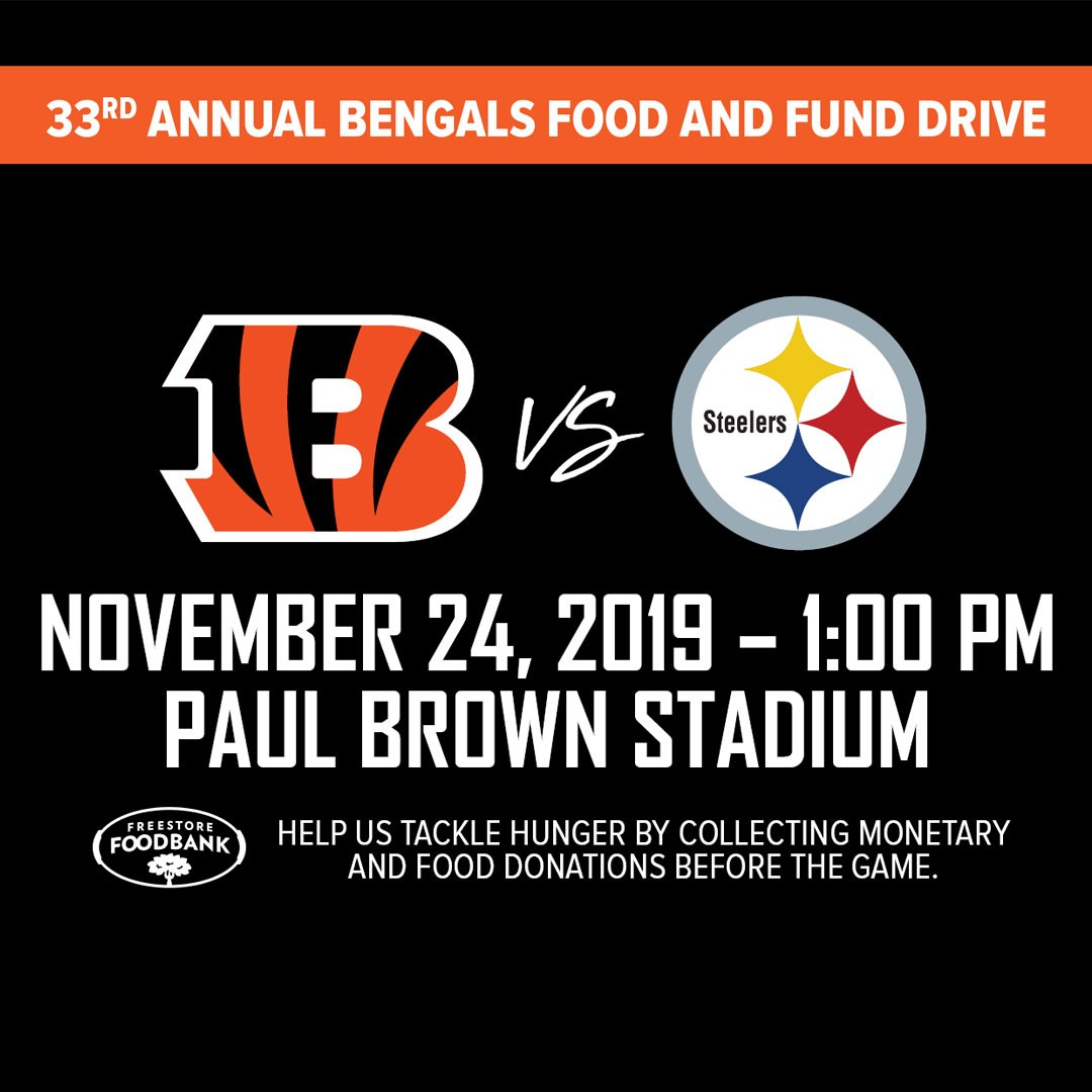 Bengals Food and Fund Drive @ Paul Brown Stadium