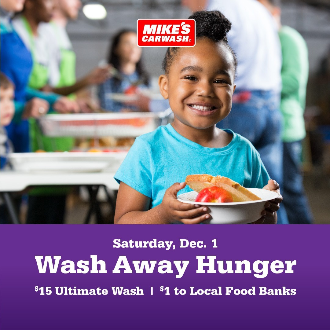 Get an Ultimate Car Wash at Mike's Car Wash and support Freestore Foodbank!