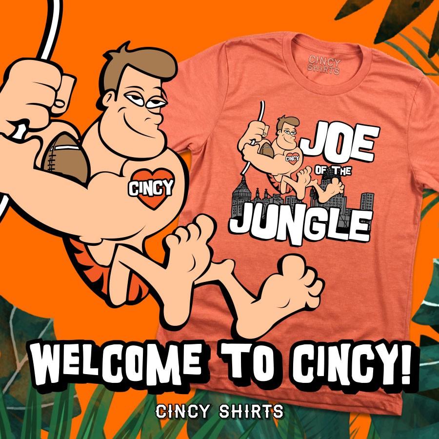 """Joe of the Jungle"" tee from Cincy Shirts"