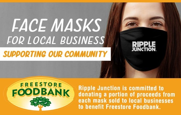 Order masks for your Company and support Freestore Foodbank!